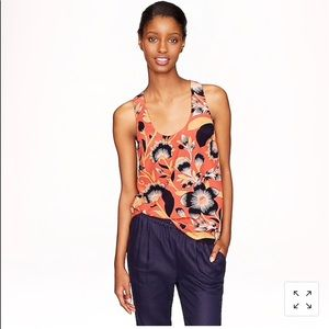 J.Crew twist back top in hibiscus floral size 2